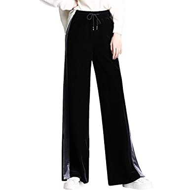 20a844748c3 DISSA DXFS70 Women Pants Plus Size Loose Wide Leg Pants at Amazon ...