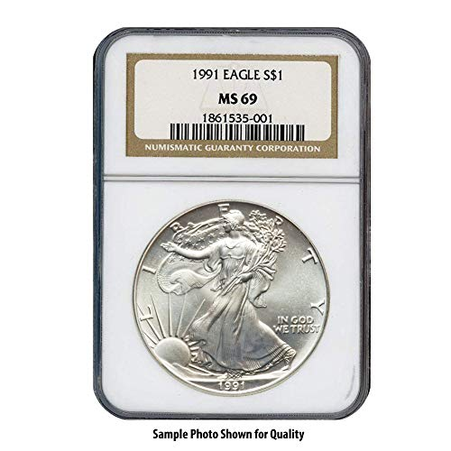 (1991 American Silver Eagle $1 MS69 NGC)