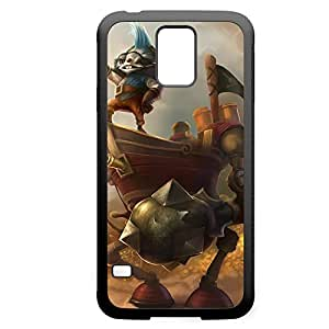 Rumble-004 League of Legends LoL For Case HTC One M7 Cover - Hard Black