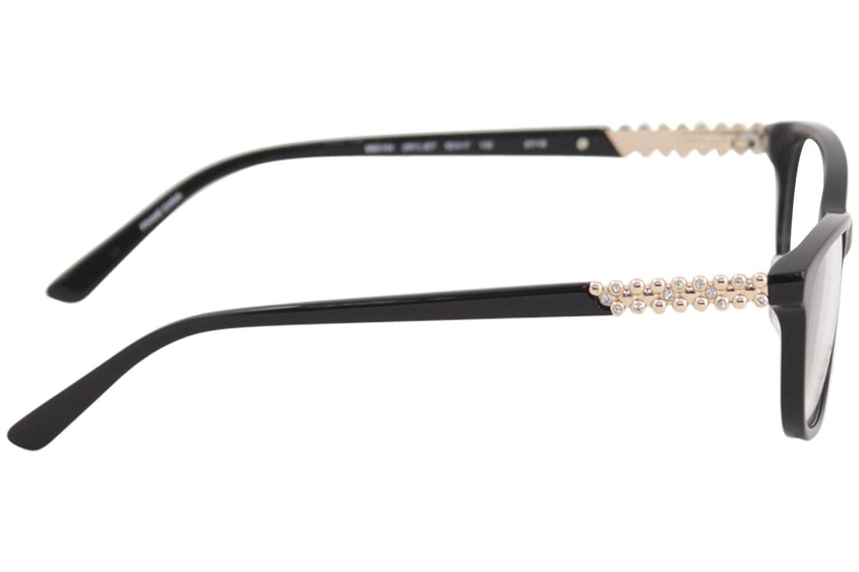 b506ba0e0c7 Amazon.com  Bebe Women s Eyeglasses BB5154 BB 5154 001 Jet Full Rim Optical  Frame 52mm  Clothing