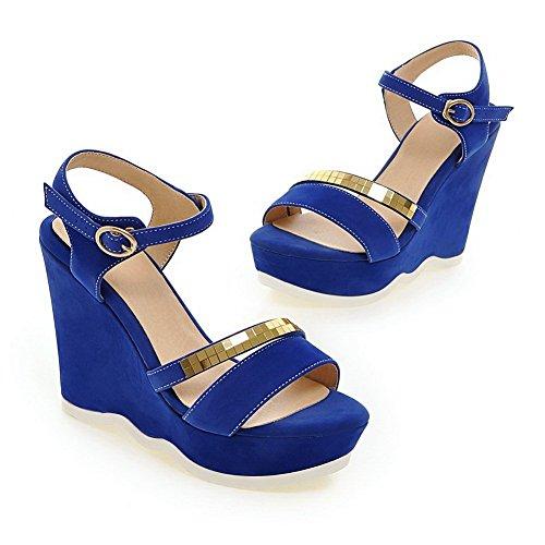 Balamasa Dames Pailletten Open-toe Frosted Pumps-schoenen Blauw