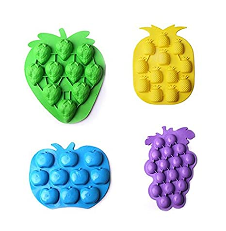 Astra Gourmet juego de 4 frutas serie silicona Cake Fondant Molde/Candy Mold/cubitos
