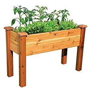 Gronomics VWEGB 24-47 24 x 47 x 33 in. Vinyl Wrapped Elevated Garden Bed