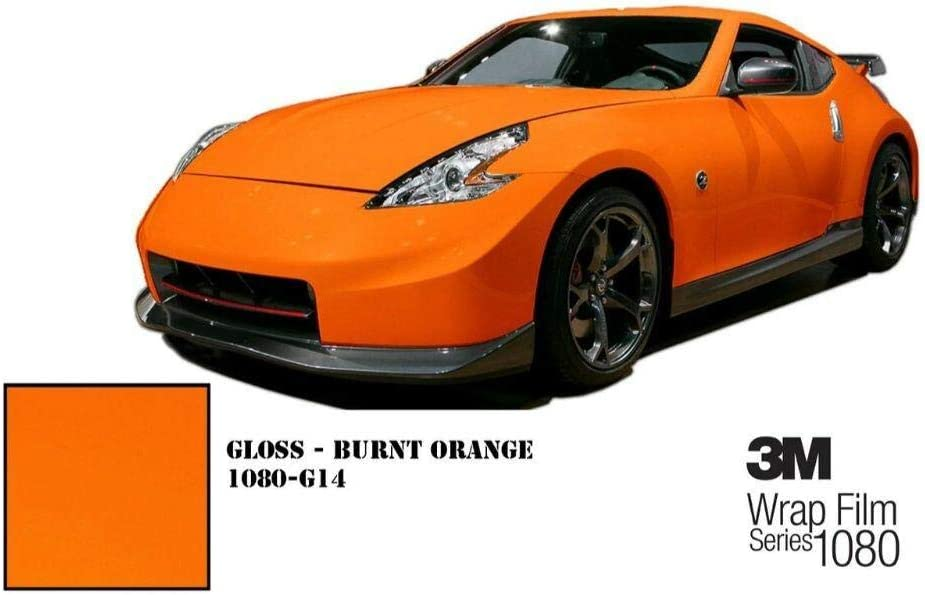 Car Wrap Vinyl Film Sample Size 3M 2080 G14 Gloss Burnt Orange 3in x 5in