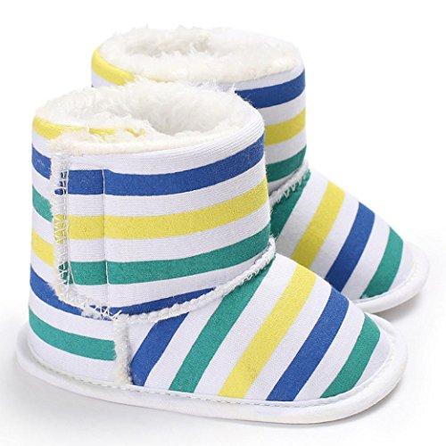 Clode® Baby Mädchen Winter Warm weiche BeutenSchnee Aufladungen Säuglingskleinkind Neugeborene Schuhe Weiß