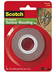 Heavy-Duty Exterior Mounting Tape, Holds 5 lb, 1 in x 60 in Roll