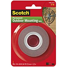 """Heavy-Duty Exterior Mounting Tape, Holds 5 lb, 1""""x60"""""""