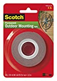 Heavy-Duty Exterior Mounting Tape, Holds 5 lb, 1'x60'