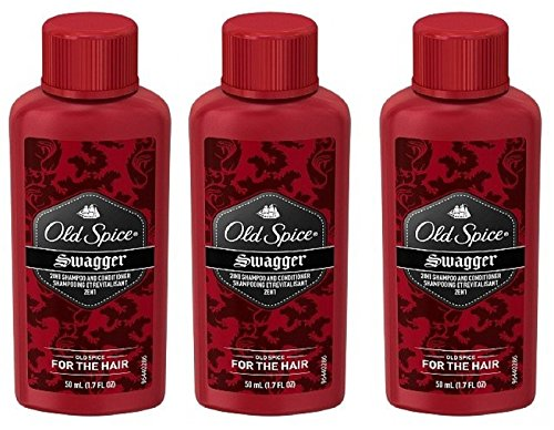 Old Spice Swagger 2in1 Shampoo and Conditioner Travel Size 1.7 fl oz (Pack Of 3)