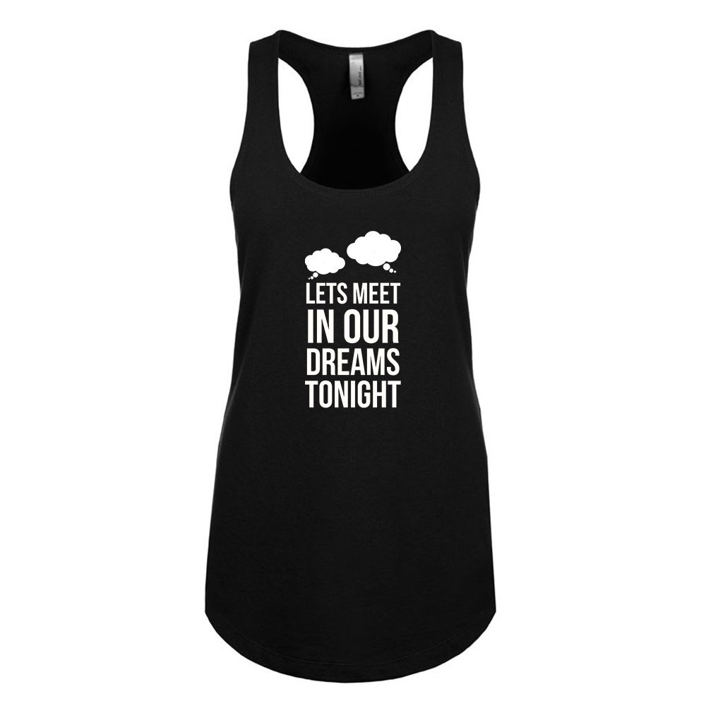 Mad Over Shirts Lets Meet in Our Dreams Tonight Unisex Premium Racerback Tank top
