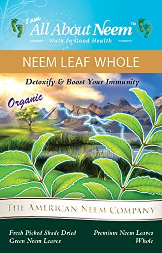 Organic Neem Leaves Whole Fresh Wild Harvested Shade Dried Premium 5 Oz for Tea, Boost Immune System Bathing Skin Irritations Natural Detox USA