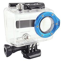 Toughsty™ Aluminum Camera Lens Ring Mount for GoPro Hero 2 1(blue)