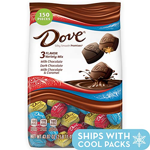 Gourmet Chocolate Favors - DOVE PROMISES Variety Mix Chocolate Candy, 150 Count