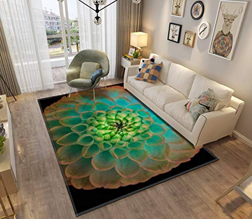 - Turqoise Dahlia Abstract Modern Home Area Runner Rug Soft Mats Rugs Doormat Anti-Slip Blanket Carpet Floor Cover Indoor Outdoor Mats Pads for Bedroom