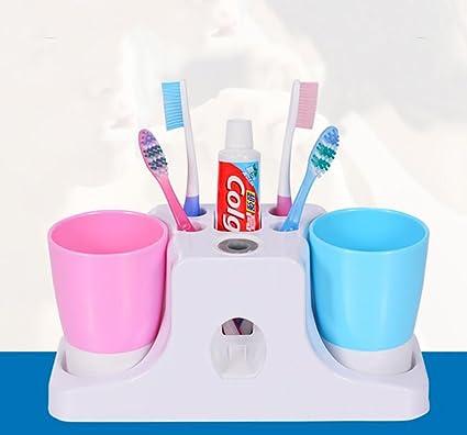 TOTO dispensador de pasta de dientes automático con los amantes del cepillo de dientes titular de
