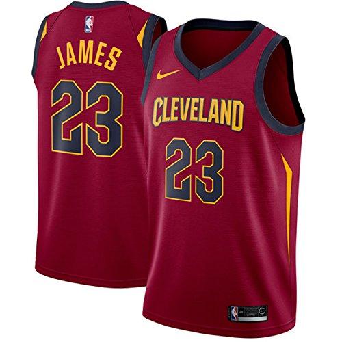 Nike Men's Cleveland Cavaliers LeBron James Maroon #23 Swingman Jersey (Large) (Stitched Jersey Swingman)