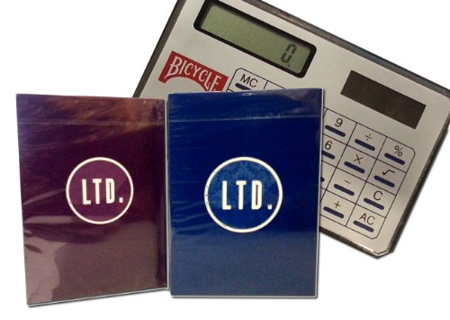 Lot 3 LTD Blue and Purple Decks Ellusionist Playing Cards w/FREE Calculator