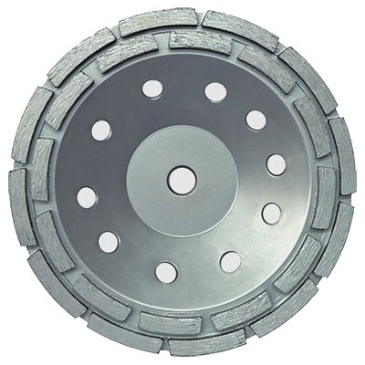 "7"" Concrete Double Row Diamond Grinding Cup Wheel for Angle Grinder Double Row"