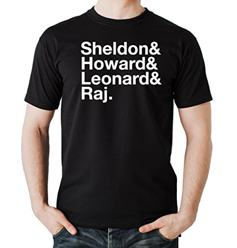 Sheldon and Leonard and ... T-Shirt Black Certified Freak