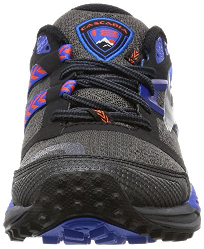 Uomo 12 black Brooks Corsa Scarpe Da Cascadia Multicolore anthracite electricblue X5RqRwAZ