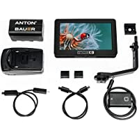 SmallHD FOCUS 5 On-Camera Touchscreen Daylight Visibility Monitor Kit with NP-FW50 Faux Battery Adapter to Sony Cameras