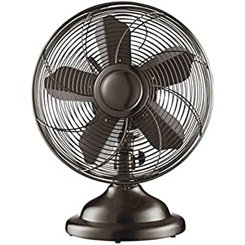 Amazon Com Hunter 12 Retro Table Fan In Brushed Nickel