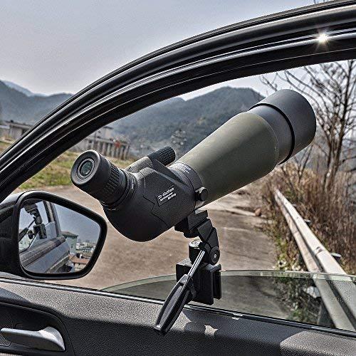 SOLOMARK Deluxe Vehicles Car Adjustable Window Mount for Spotting Scope Big Binoculars - Fully Metal