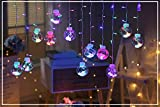 CITRA Indoor Outdoor String Lights Window Curtain Lights with 8 Flashing Modes Wedding Party Home Garden Patio Shop Decoration Backdrop (8.2 Feet, Wish Ball-Multi)