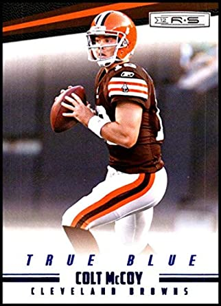 4daab098 Amazon.com: 2012 Panini Rookies and Stars True Blue #33 Colt McCoy ...