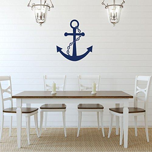 Cheap  Navy Blue Anchor Vinyl Wall Decal Sticker - Large Nautical Ocean Symbol,..