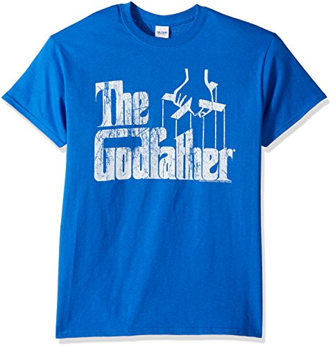 American Classics Men's Godfather Distressed Logo T-Shirt, Royal Blue, Small