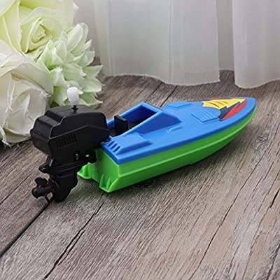 Dabixx Bath Boat, Baby Toy Kid Wind Up Clockwork Boat Ship Toys Bath Toy Play Water Bathroom: Home & Kitchen