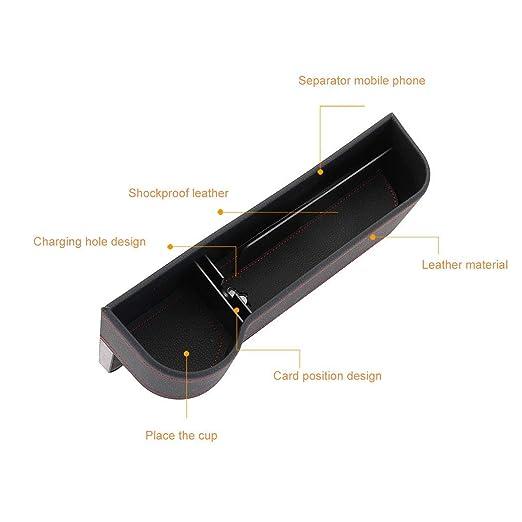 integrity.1 Autositz Aufbewahrungsbox(Hauptfahrersitz) ABS Harz Rohstoffe Spritzguss hochwertige Leder Aufbewahrungsbox Macht das Auto sauber und bequem