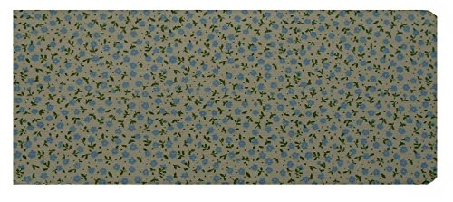 Laminated/Glossy Mini Blue Flowers Chequebook Cover/Checkbook Cover MPLGLOSBCB943