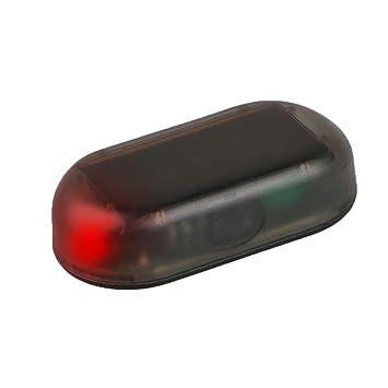 Solar Power Schnuller Auto Alarm Rot LED-Licht simulieren Nachahmung Sicherheit System Warnung Diebstahlschutz Flash Blinken Lampe