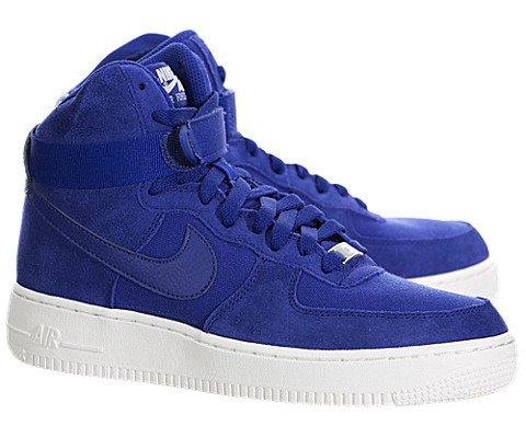 Nike Youth Air Force 1 High Boys Basketball Shoes Deep Royal/Sail (5)