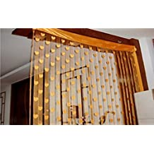 G-mat Window Room Divider Curtain Valance Heart Line Tassel String Door Curtain