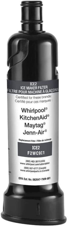 AQU-WATER ICE2 F2WC9I1 Refrigerator Ice Maker Filter Replacement-3PACK
