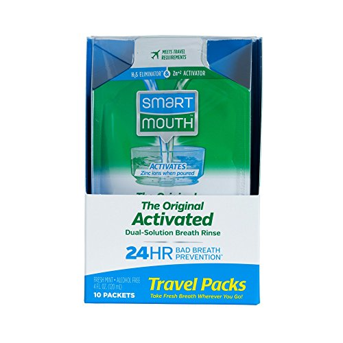 SmartMouth Mouthwash Packets, Clean Mint, 10 ()