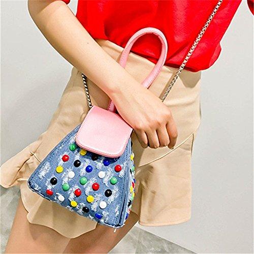 Schultertaschen Nieten Tote Dereick Handtasche Rosa Umhängetaschen Mini Populäre Klein Yiliay Elemente 8HIxHO
