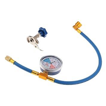 MagiDeal R134A Manguera de Medición de Recarga de Aire Acondicionado Válvula Calibración Tubería de Refrigerante