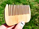 4'' Wooden Comb - Wood Hair Brush - Handmade Comb - Pocket Wooden Bomb - Hair Care Comb - Wave Shape Beard Comb - Wooden Brush for Men - Groomsman Gift - Pocket Size Comb - Hairbrush - WoodenWorldUA