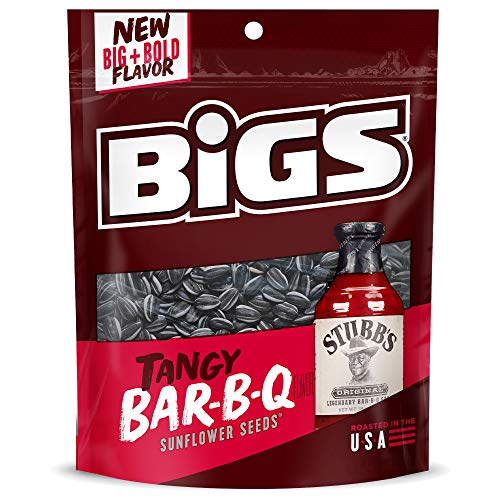 BIGS Stubb's Bar-B-Que Sunflower Seeds, 5.35-oz. Bag (Pack of 12)