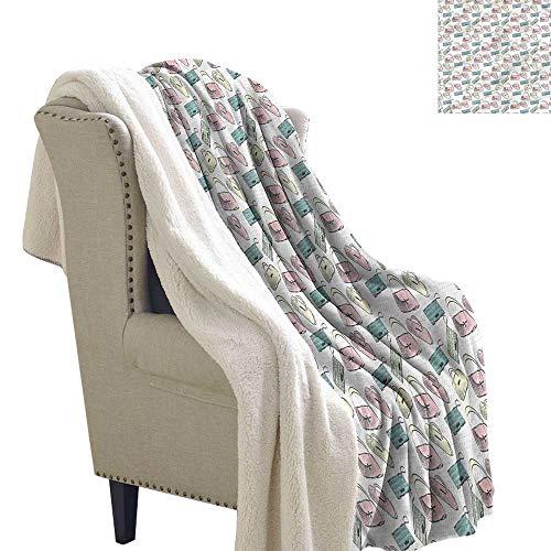 Fashion Blanket Small Quilt Bags Purses Feminine Style Velour Blanket 60x78 -