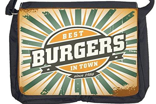 Borsa Tracolla Retro Burger Stampato