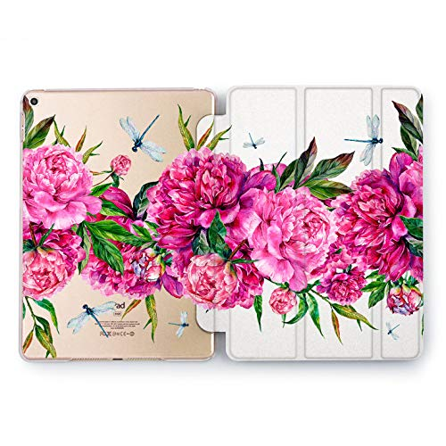 Wonder Wild Peon Dragonfly iPad Cover Pro 9.7 inch Pink Flowers Mini 2 3 4 Bright Floral Print Air 10.5 12.9 Apple Smart Stand Case Hard 5th 6th Generation Design 2017 2018 Cute Gentle Organic -
