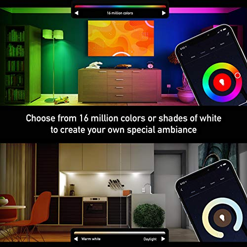 iBRIGHT Smart WiFi LED Light Bulb, 9.5W (60W Equivalent) 800 lumens A19 E26 Dimmable Multicolor 120VAC 2700K-5000K RGB, No Hub Required (Works with Amazon Alexa & Google Assistant) 1 Pack