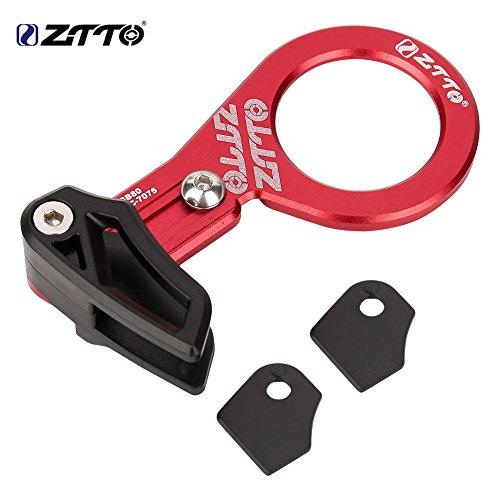 Bike Chain Guide,Aluminium Alloy Ultralight MTB Bike Chain Guide Direct Mount Chainring Guard Perfect Thread Bottom Bracket Bicycle (Red)