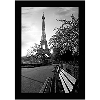 Americanflat 8x12 Black Picture Frame - Shatter-Resistant Glass - Wall Display - Tabletop Display - Hanging Hardware - Easel Back Included