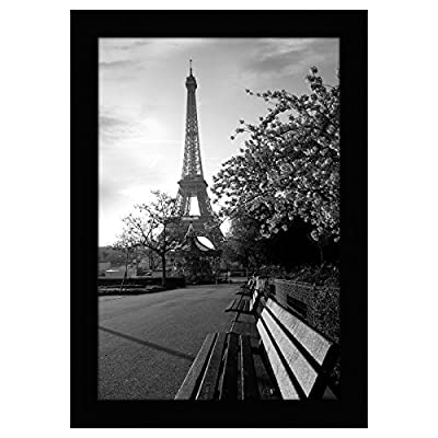 "Americanflat Picture Frame in Black Wood with Shatter Resistant Glass - Horizontal and Vertical Formats for Wall and Tabletop - 8"" x 12"" - Design: Black 8x12 (7.5x11.5 display area) inch picture frame, perfect for your cherished memories, family portrait and vacation photos; comes with hanging hardware for hassle-free display in both horizontal and vertical formats to hang flat against the wall; includes an easel stand for tabletop or desktop display Material: Wood frame with a polished tempered shatter-resistant glass front that gives a clear view of your picture and preserves your photographs, cards and memories Quality: Durable, gallery-style frame; the frame's front has clear tempered shatter-resistant glass and a sturdy backboard to keep the photo in place - picture-frames, bedroom-decor, bedroom - 51cN0BYQ nL. SS400  -"